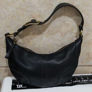 Coach hand black leather bag